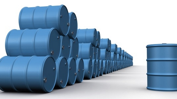 blue barrels in a stack with one to the side